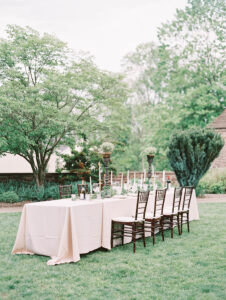 the reception table