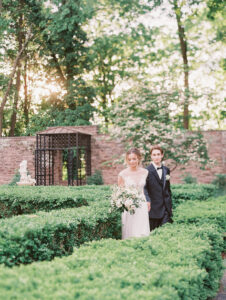 the golden hour with our bride and groom