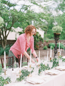 Tara in action, setting up place settings
