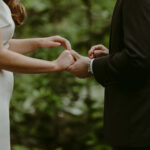 Wedding Couple exchanging rings during wedding ceremony