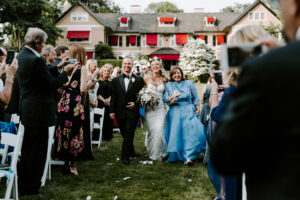 the walk down the aisle with mom